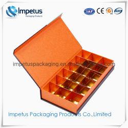 Eco Friendly luxe personnalisé Handmade Book papier carton en forme de boîte de chocolats Premium à l'emballage cadeau avec l'or du papier bac intérieur
