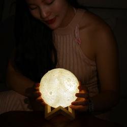 USB recargable regalo creativo de la luz de Luna en 3D Air Humidificador con batería de Kc