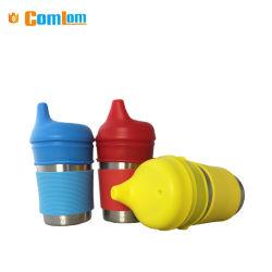 CL1C-M27-E Comlom Food Grade мягкая силиконовая дети чашки оптовой 8/16 унции чашки Sippy из нержавеющей стали