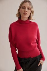 De la mujer suéter Punto jersey de punto costilla perezoso