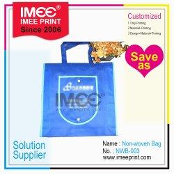 ImeeはカスタムFoldableビジネス昇進のスーパーマーケットのショッピングホテルのヒートシール非編まれた袋を印刷した