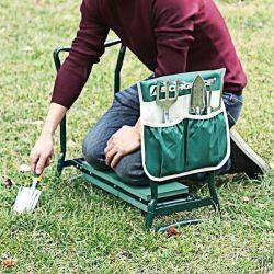Универсальный 2 в 1 складным складные наушники для использования вне помещений дома на лужайке в саду на пляже Kneeler и сиденья