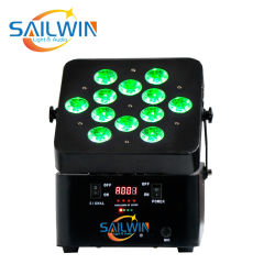 V12 6in1 Rgbaw + UV 배터리 LED 파트의 38가지 사전 설정 효과 라이트