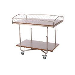 Cremagliera di visualizzazione di legno Double-Deck mobile e conveniente