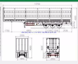 Zaun-LKW-Sattelschlepper für Bulkladung-Transport ungefähr 50 Tonnen