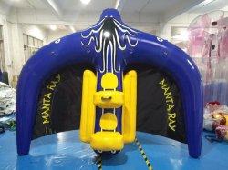Het opblaasbare Vliegende Stuk speelgoed Manta Ray Towable van het Water van de Buis van Vissen