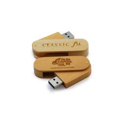 2020 USB-flashgeheugen met aangepast logo, hout (EW016)