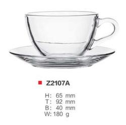 Juego de taza de café de cristal juegos de taza de té