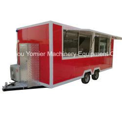 製造業者の供給の移動式Towable食糧ピザトラックBBQのグリルの食糧トラック