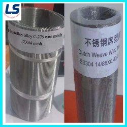 Malla de alambre de acero inoxidable de ligamento tafetán/tejido sarga /tejido holandés