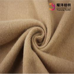 Tessuto del Knit della nervatura del poliestere 2X2 del cotone per la maglietta felpata