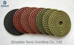 Wet/Dry Almohadilla de pulir el diamante de resina flexible herramienta abrasiva de piedra de granito, mármol, el hormigón