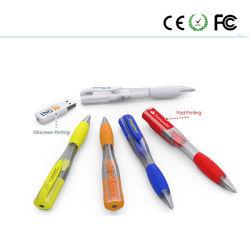 ビジネスギフトのプラスチックペンUSBのフラッシュペンのメモリUSBの棒のキー駆動機構Uのディスク