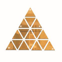 نفس لصوقة [ديي] إدماج قابل للنقل [3د] مرآة مثلّث بلّوريّة أكريليكيّ جدار لاصق