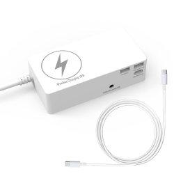 Chargeur sans fil 10W avec adaptateur de voyage d'alimentation universel pour ordinateur portable MacBook et le chargeur de téléphone mobile