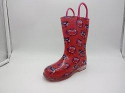 Laarzen van de Regen van pvc van de Jonge geitjes van de Stijl van Hotsale de Nieuwe Leuke