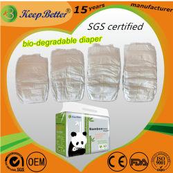 SGSは使い捨て可能で環境に優しい生物分解性のSupersoft抗菌性の敏感なSkineの優れた赤ん坊のおむつの製造業者を証明した