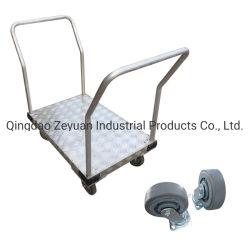 Quatro Rodas plataforma de alumínio carrinho dobra pesada máquina direita