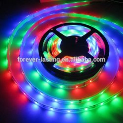 4.8W par mètre blanc chaud SMD 3528 Flexible Strip Light LED RVB