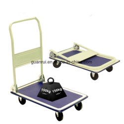 150kg Fabrication 4 roues chariot Cargo de plate-forme rabattable