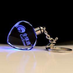 De Sleutelring van buitensporige Goedkope LEIDENE Keychain van het Kristal