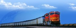 De Verschepende Dienst van de spoorweg van China aan Rusland