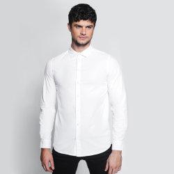 적합에 의하여 머서법으로 처리된 면 남자의 사업 셔츠 우연한 셔츠를 체중을 줄이십시오