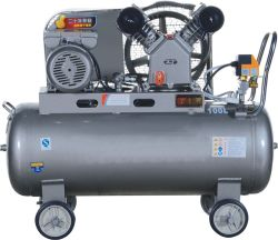 De elektrische Compressor van de Lucht van de Zuiger Riem Gedreven met 3HP Motoren 2.2kw