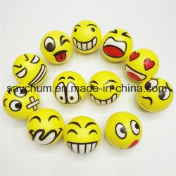 Smiley Emoji 6,3 cm PU Stress bola esférica novidade squeeze ball lado a esfera de estresse Exercício Pulso Squeeze Brinquedos Bola de estresse