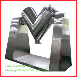 V Mixer Machine Per Food Factory/ Cone Chemical Powder Factory/Blender/ Pharmaceutical Dry Powder Granulato/ Slot Trogolo Mixer Machine Per Medicine Powder