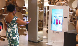 Dedi vestidor Virtual Smart Mirror pantalla LCD para la tienda de ropa