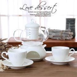 Insieme di vetro stabilito del POT del tè della porcellana degli articoli per la tavola del POT di ceramica di vetro bianco puro del tè