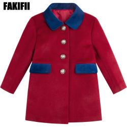 Herstellendes hochwertiges Kind-Kleidung-Baby-Kleidungs-Mädchen-rotes Wolle-Mantel-Form-Winter-Kleid