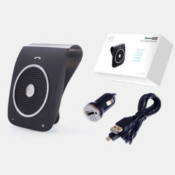 Le pare-soleil Clip Kit voiture mains libres sans fil Bluetooth bt18