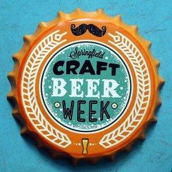 Forma de tapón de botella de cerveza sign signo artesanía estaño metal decorativo