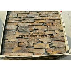 De natuurlijke Steen van de Muur van de Lei Roestige Onregelmatige voor Huis