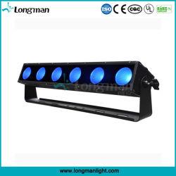 6HP 25W Rgbaw 5NO1 Barras de LED de luz de pixel para plantas