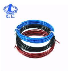 6 mm Noir sur le fil en acier recouvert de corde en nylon pour équipements de gym