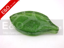 Mayorista de hoja verde transparente Mini Custom Hotel jabón