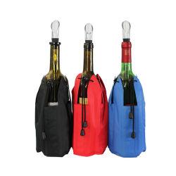 Wein-Flaschen-Kühlvorrichtung-Gel-Eis-Beutel-kühler Satz