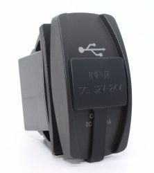 De universele Lader van de Auto USB - Dubbele LEIDEN van de Contactdoos van de Macht USB Licht voor (het Rode) Comité van de Schakelaar van de Tuimelschakelaar