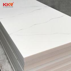 Искусственный камень 12мм белым искусственным мрамором с аналогичным образом серого цвета