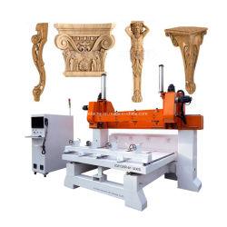 Adapté pour le jardin des meubles anciens canapé salon de l'artisanat en bois 3D La production de masse de la colonne 5 de l'axe tête multiples CNC Router
