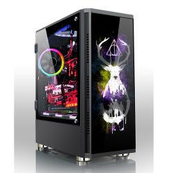 2021 새로운 맞춤형 디자인 게임 플레이 유리 파워트레인 ATX 표 PC 및 아크릴 컴퓨터 케이스