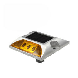 L'autoroute solaire LED haute visibilité Cat Eyes goujon de la route en aluminium
