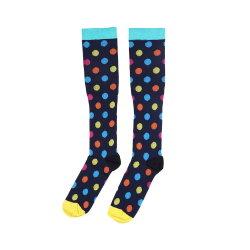 Multiple Color Dot Pattern Knitting Compression Sokken Voor Vrouw
