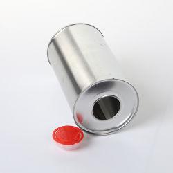 1-2L personnalisé carré vide chimique d'huile de boîte de métal de peinture