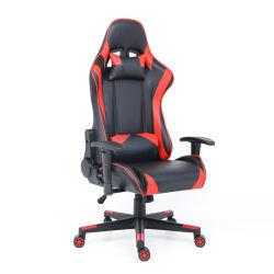 Büro Schwarz und Rot Günstige PU-Leder 180 Grad Playstation Rocker Computer Racing PC Benutzerdefinierte LED ergonomische Gamer Gaming Stuhl
