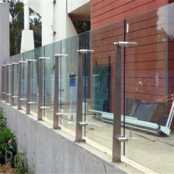 Traliewerk van het Glas van het Roestvrij staal van de Plaat van het dek het Dubbele voor Balkon/Trede