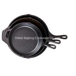 Pre-Seasoned sartén de hierro fundido experimentado utensilios de cocina
